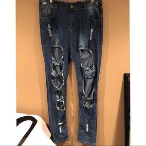 Denim - Size 14 (XXL) Ripped Jeans